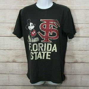 Vtg Mickey Mouse Florida State FSU Distressed Tee
